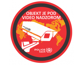 POLICETECH NALEPKA ZA VIDEO NADZOR FI 210 mm