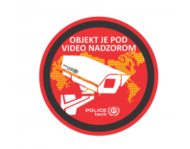 POLICETECH NALEPKA ZA VIDEO NADZOR FI 95 mm