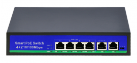 SWITCH 4 POE + 2 UPLINK 100MB/S